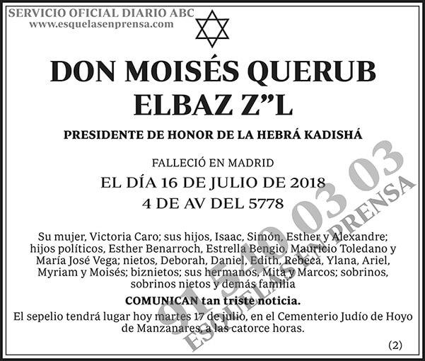 Moisés Querub Elbaz Z¨L
